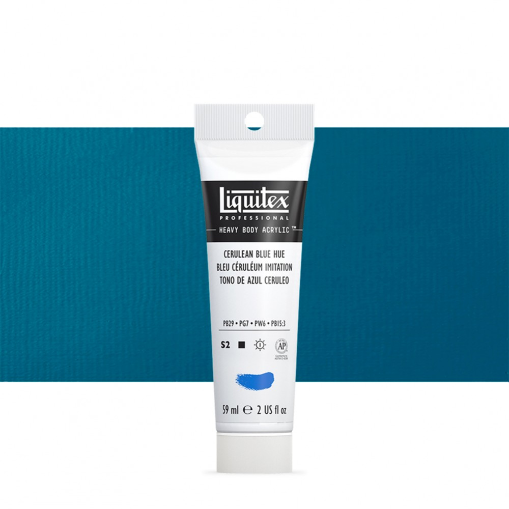 Liquitex : Professional : Heavy Body Acrylic Paint : 59ml : Cerulean Blue Hue
