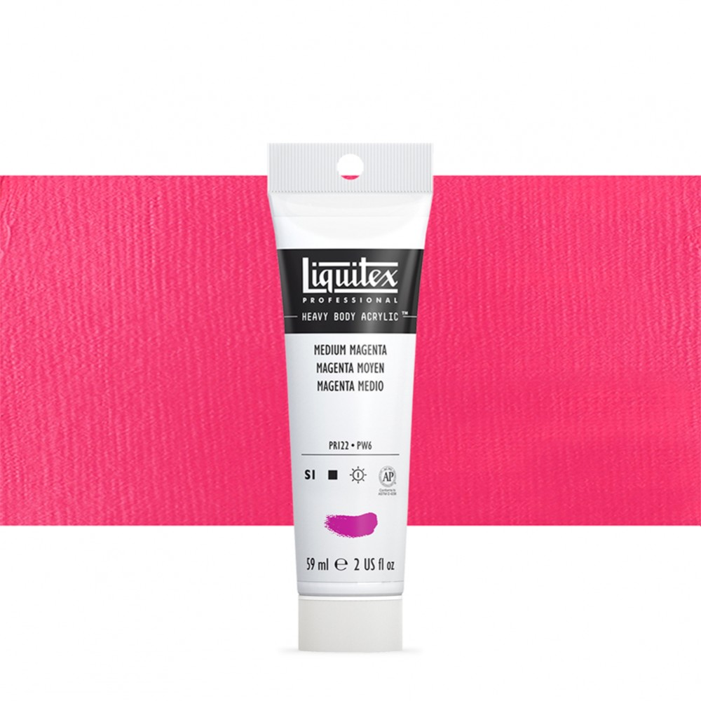 Liquitex : Professional : Heavy Body Acrylic Paint : 59ml : Medium Magenta
