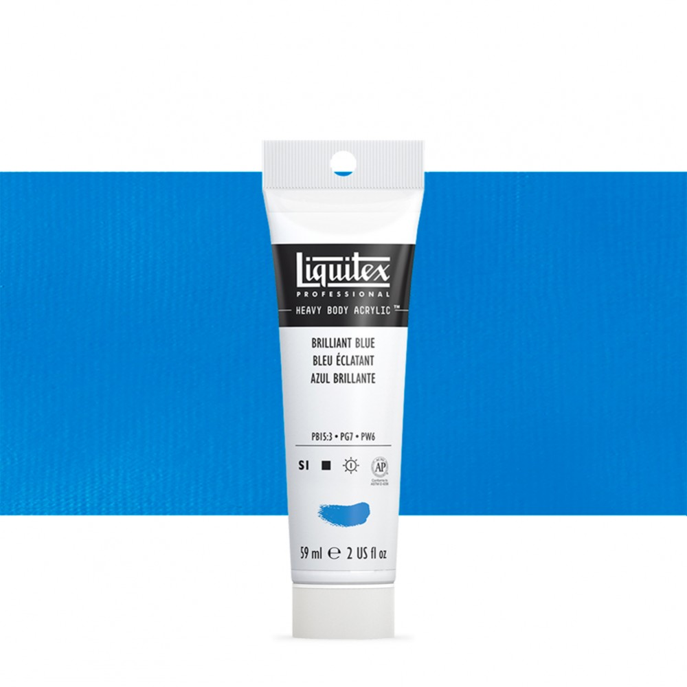 Liquitex : Professional : Heavy Body Acrylic Paint : 59ml : Brilliant Blue