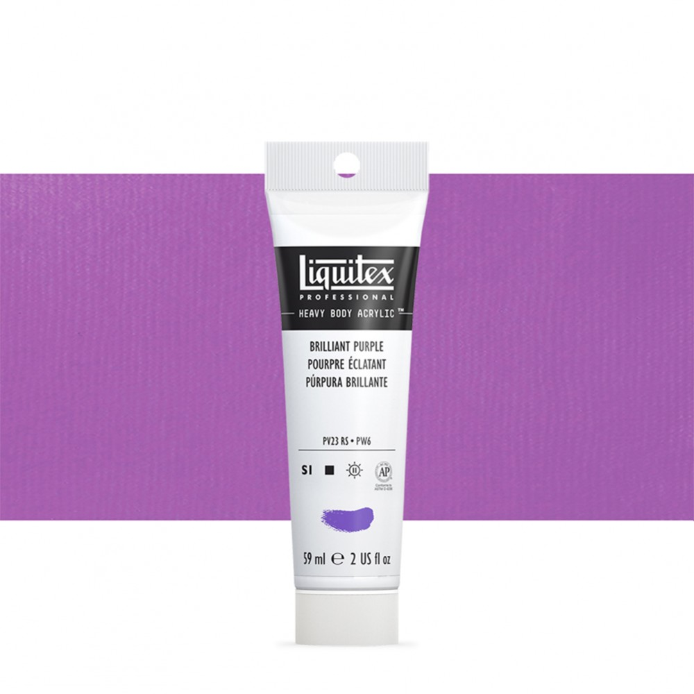 Liquitex : Professional : Heavy Body Acrylic Paint : 59ml : Brilliant Purple