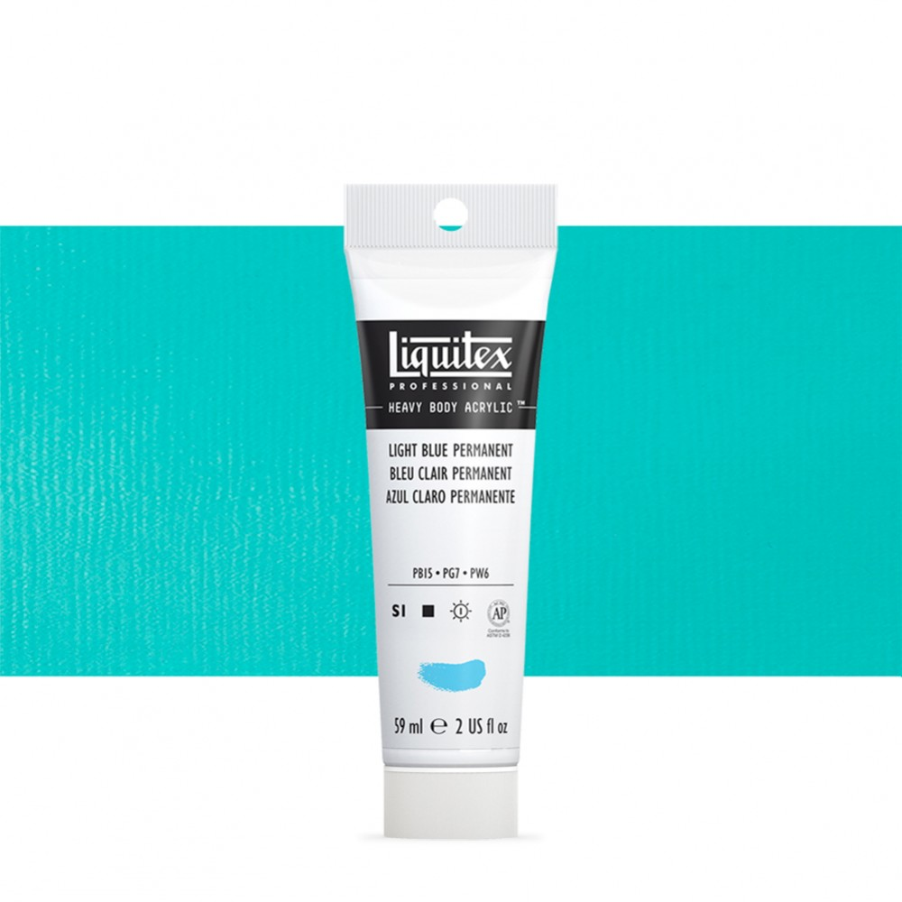 Liquitex : Professional : Heavy Body Acrylic Paint : 59ml : Permanent Light Blue