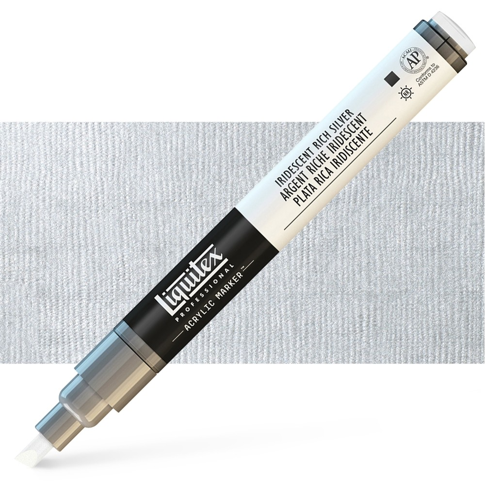Liquitex : Professional : Marker : 2mm Fine Nib : Iridescent Rich Silver