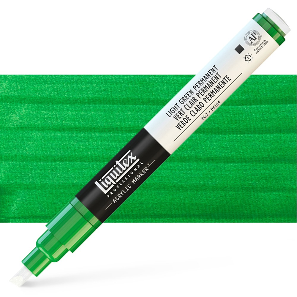 Liquitex : Professional : Marker : 2mm Fine Nib : Light Green Permanent