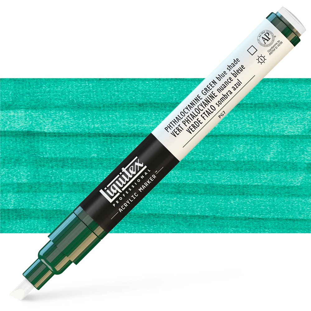 Liquitex : Professional : Marker : 2mm Fine Nib : Phthalo Green Blue Shade