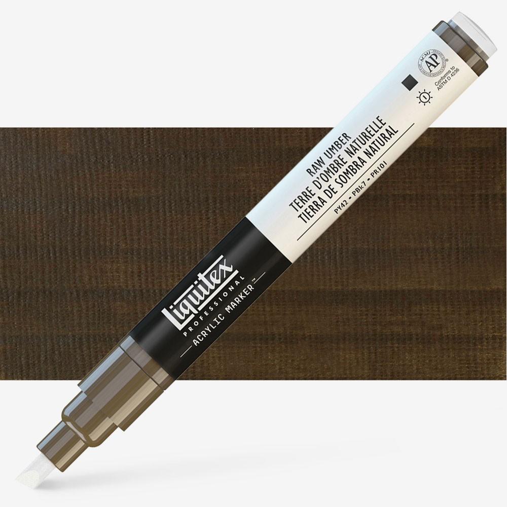 Liquitex : Professional : Marker : 2mm Fine Nib : Raw Umber