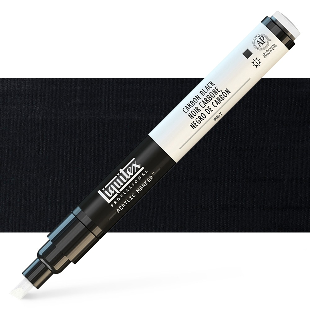 Liquitex : Professional : Marker : 2mm Fine Nib : Carbon Black