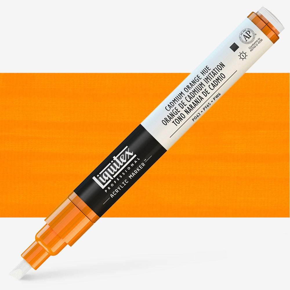 Liquitex : Professional : Marker : 2mm Fine Nib : Cadmium Orange Hue