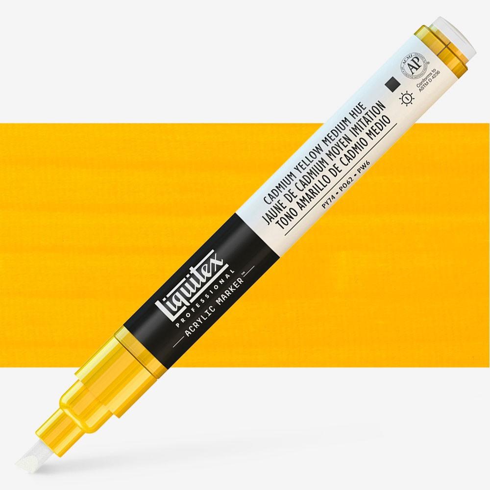 Liquitex : Professional : Marker : 2mm Fine Nib : Cadmium Yellow Medium Hue