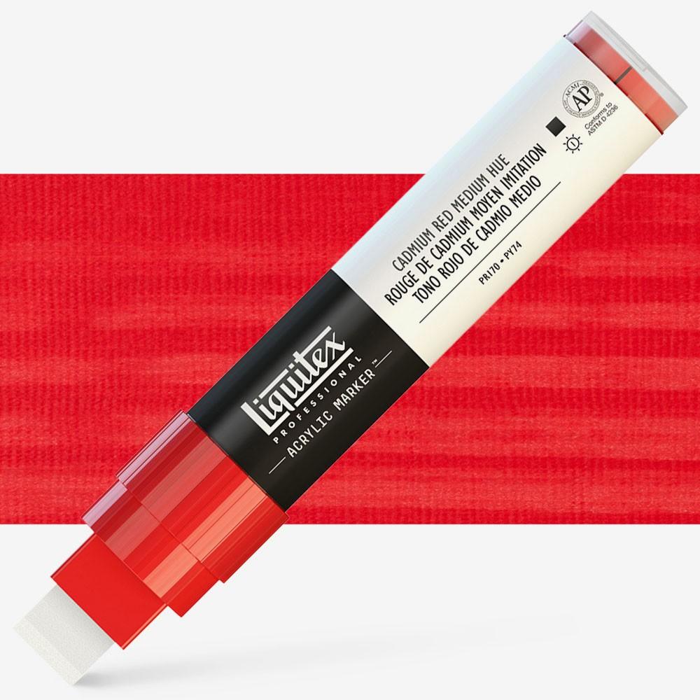 Liquitex Marker : 15mm WIDE Cadmium Red Medium Hue