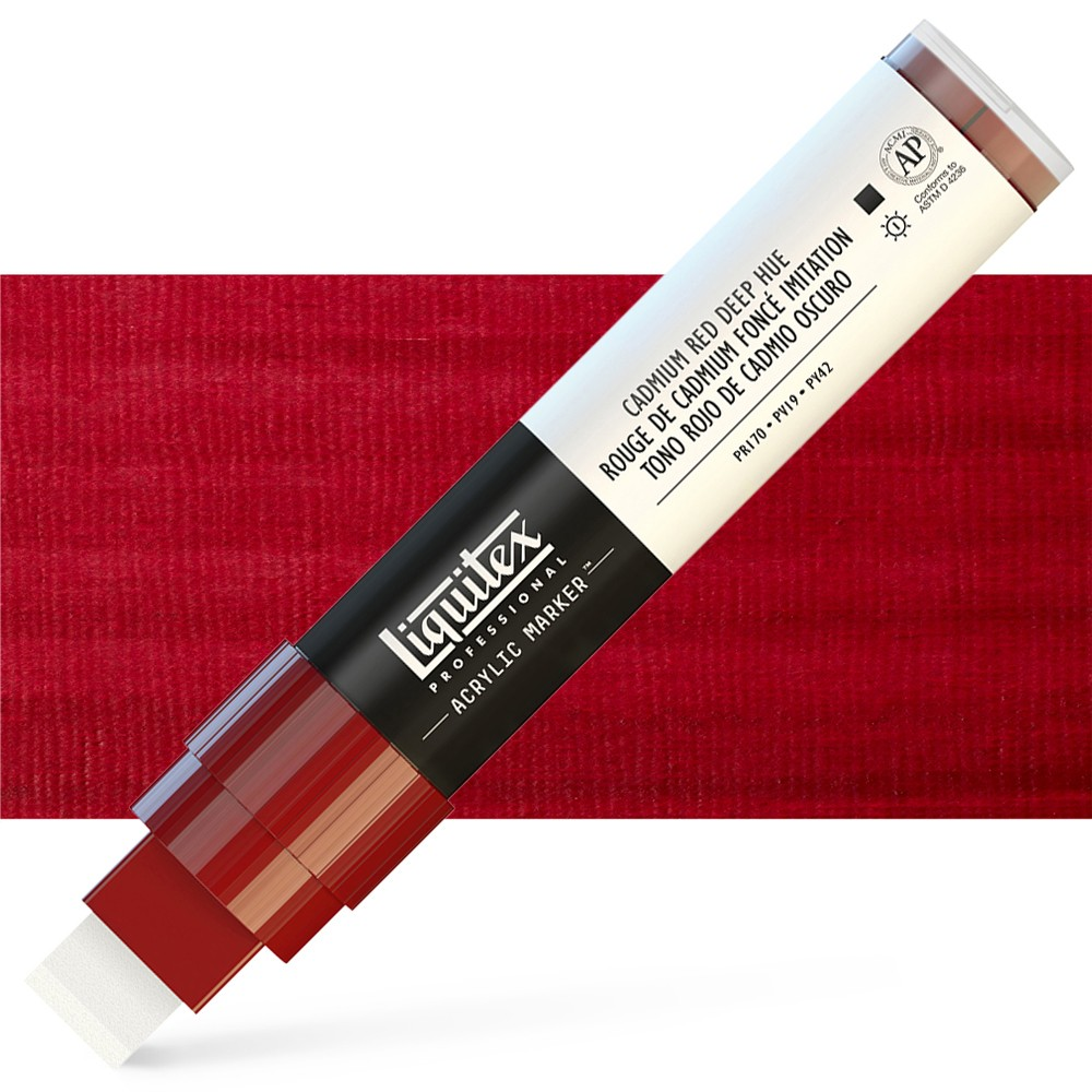 Liquitex : Professional : Marker : 15mm Wide Nib : Cad Red Deep Hue