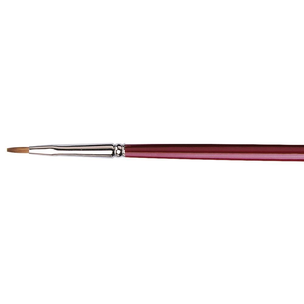 Da Vinci : Kolinsky Red Sable : Oil Brush : Series 1810 : Bright : Size 1