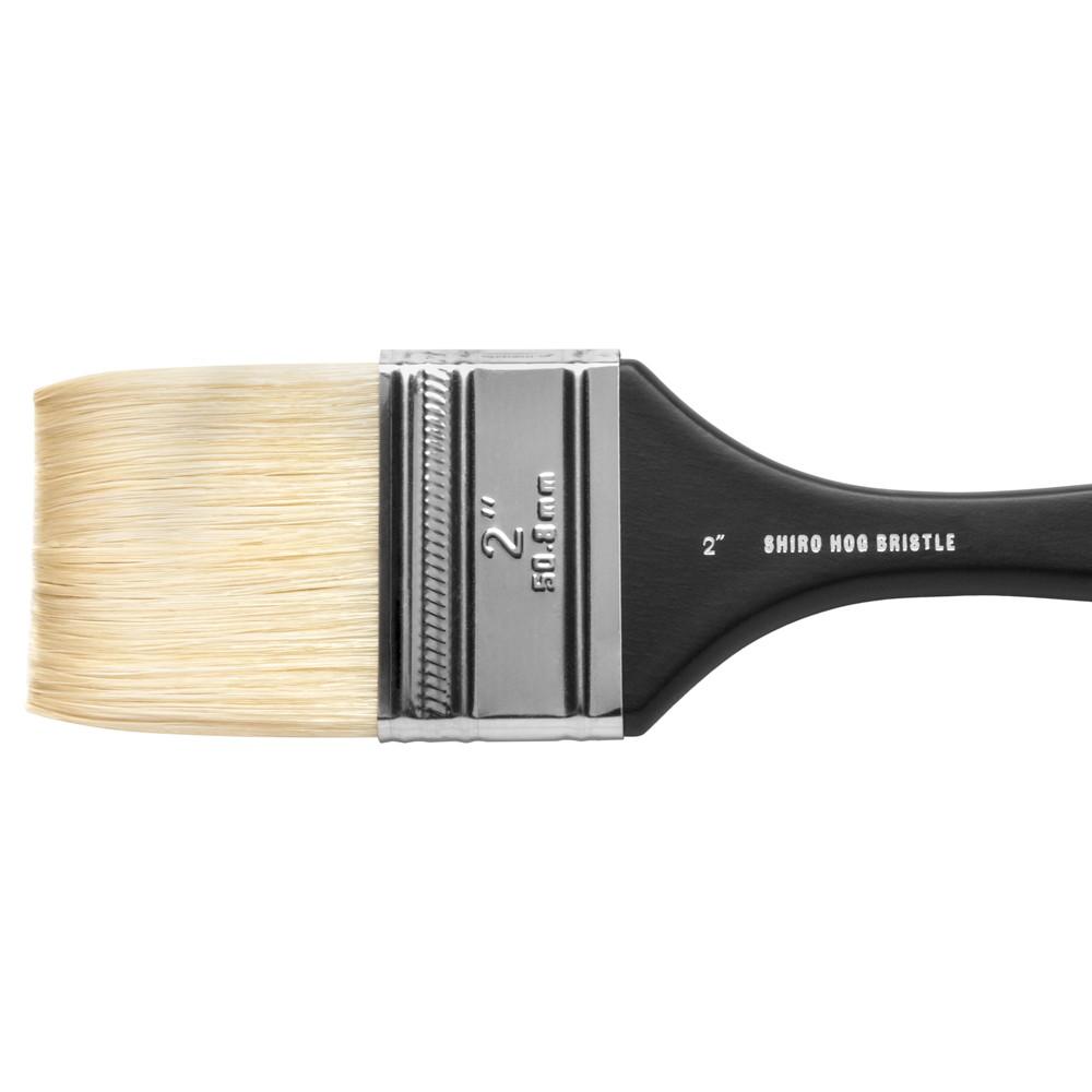 Jackson's : Shiro : Professional Hog Bristle Hair Brush : Mottler : 2in