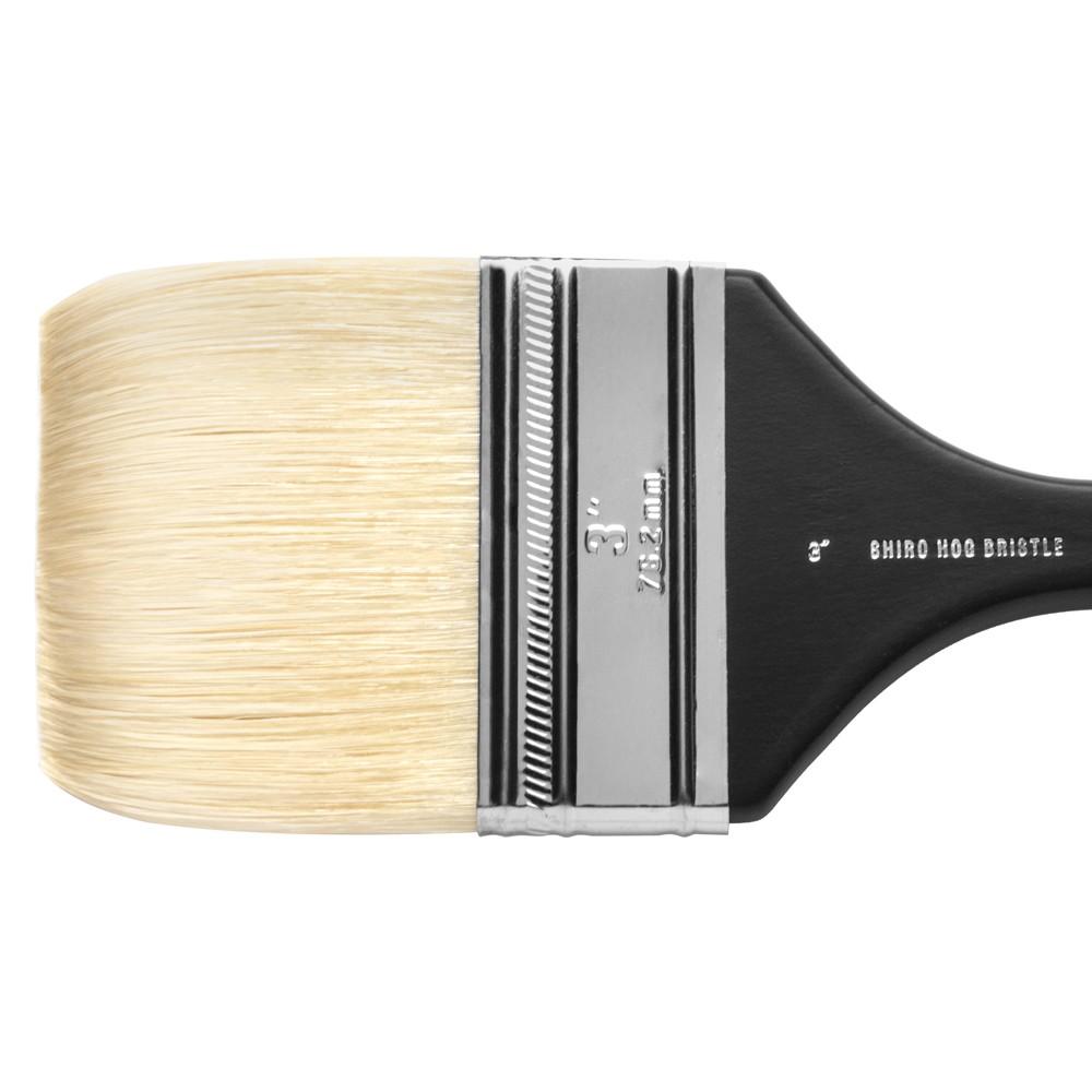 Jackson's : Shiro : Professional Hog Bristle Hair Brush : Mottler : 3in