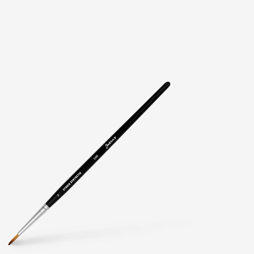 Jackson's : Studio Synthetic Watercolour Brush : Round : Size 3