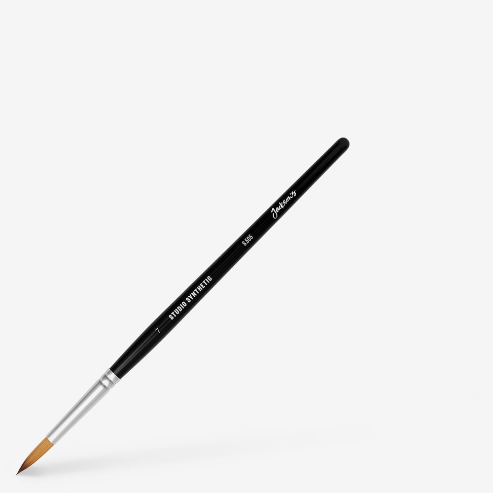 Jackson's : Studio Synthetic Watercolour Brush : Round : Size 7