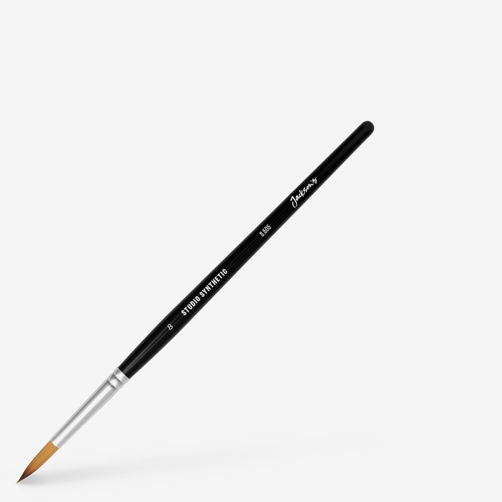 Jackson's : Studio Synthetic Watercolour Brush : Round : Size 8