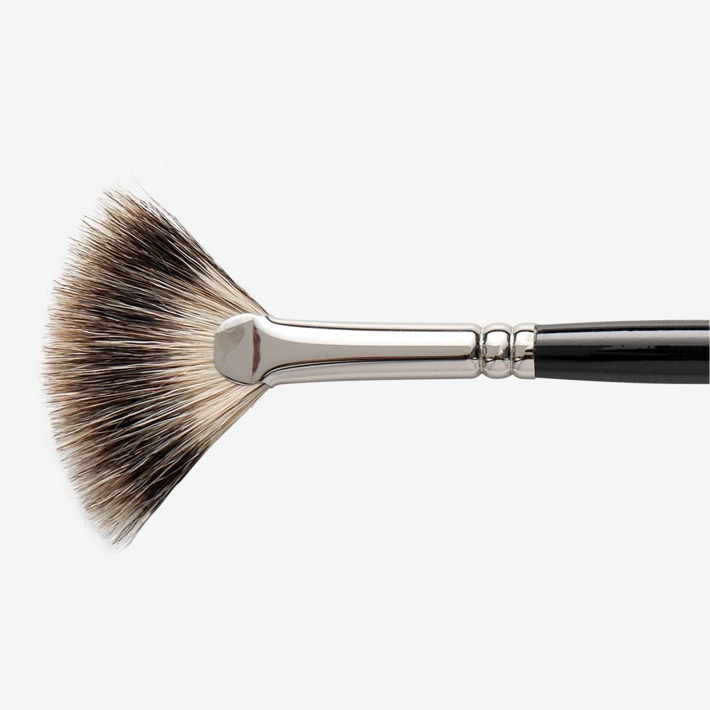 Jackson's : Short Handle Badger Fan Brush : Medium