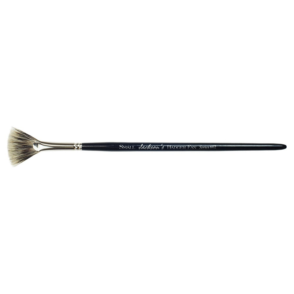 Jackson's : Short Handle Badger Fan Brush : Small