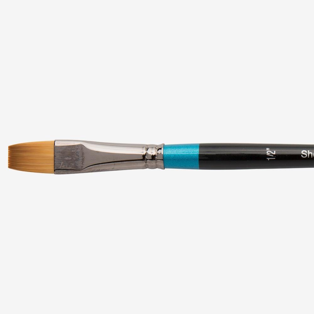 Daler Rowney : Aquafine Watercolour Brush : Af55 Short Flat : 1/2In
