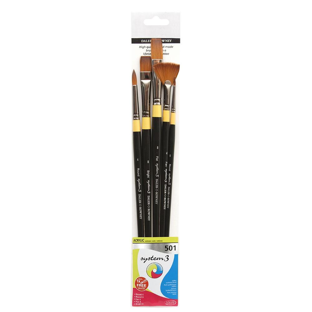 Daler Rowney : System 3 : Acrylic Paint Wallet Set : 501