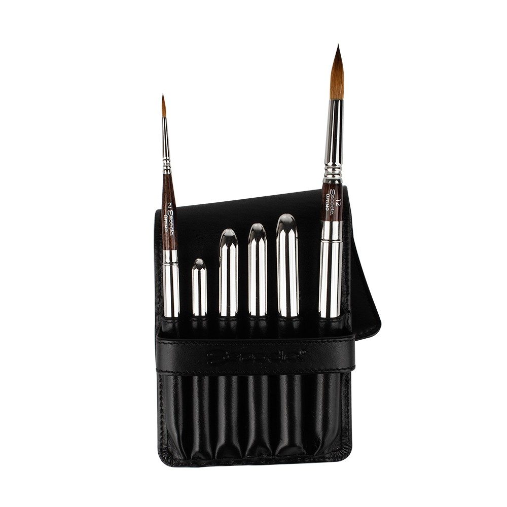 Escoda : Watercolour Travel Brush Set : Optimo : Series 1241 : Set of 6