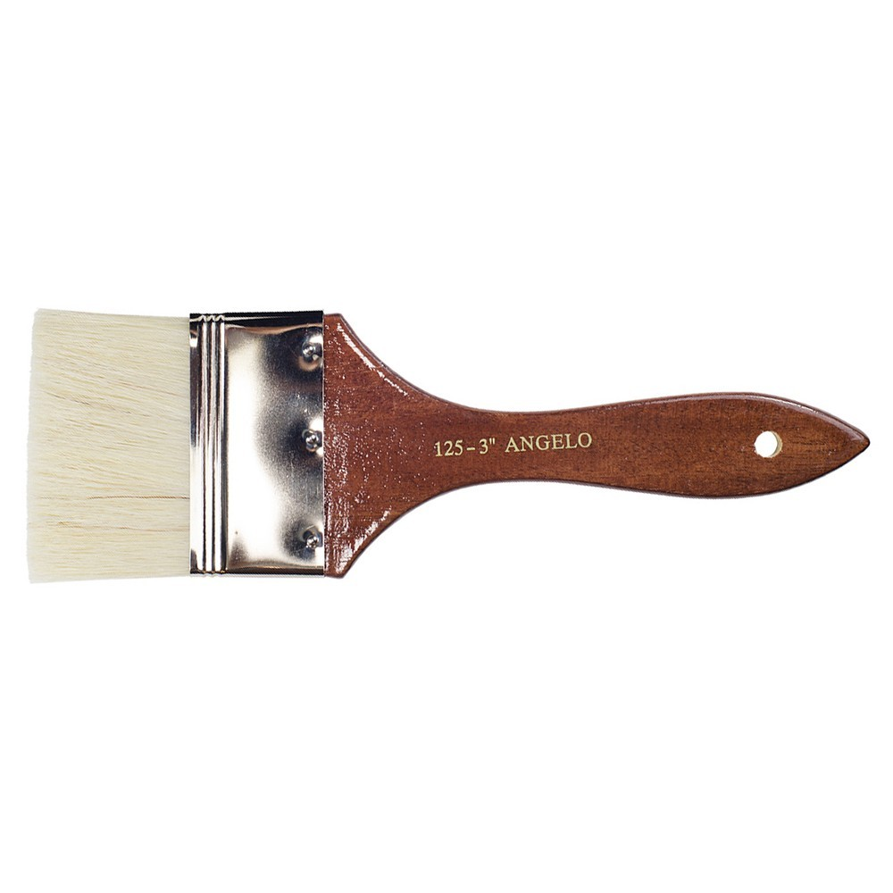 Angelo : Thin Flat Bristle Brush : Size 3in