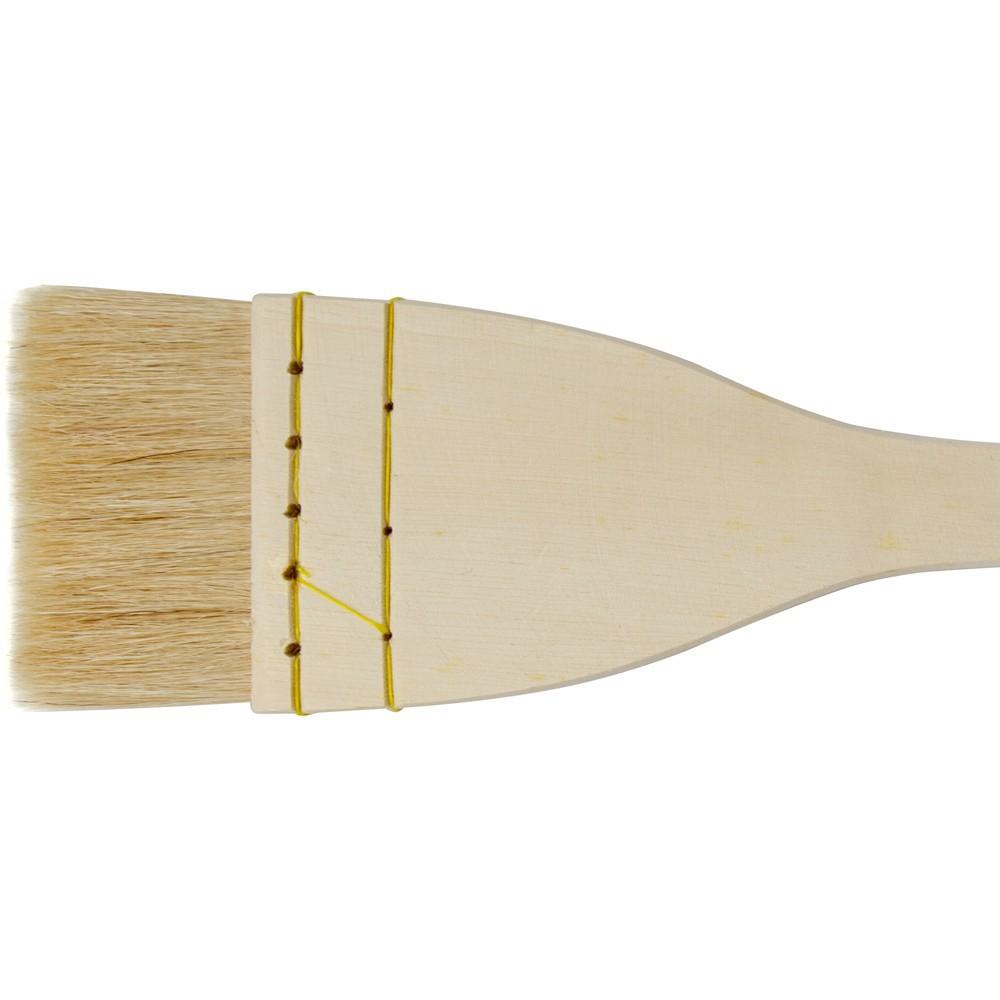 Jackson's : Artist Hake White Goat Hair Brush : Flat : 2.25in (60mm)