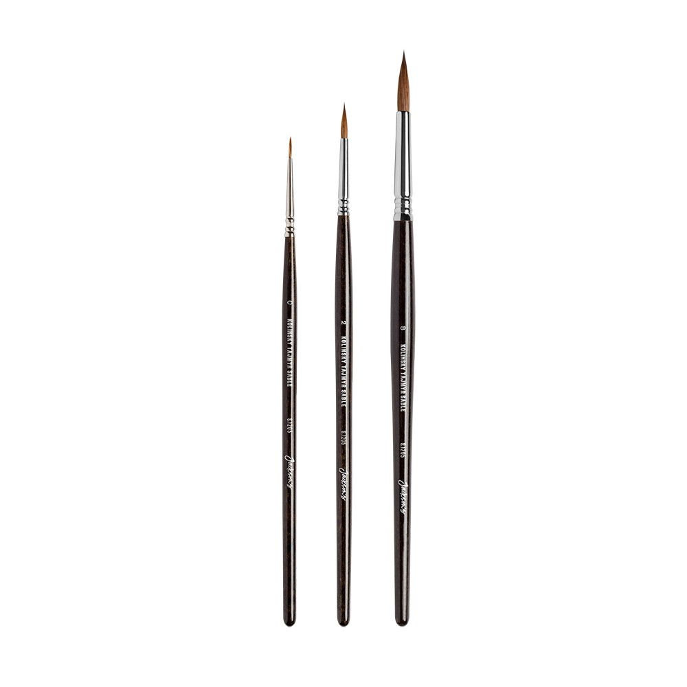 Jackson's Tajmir Kolinsky Brush Set 0,2,8