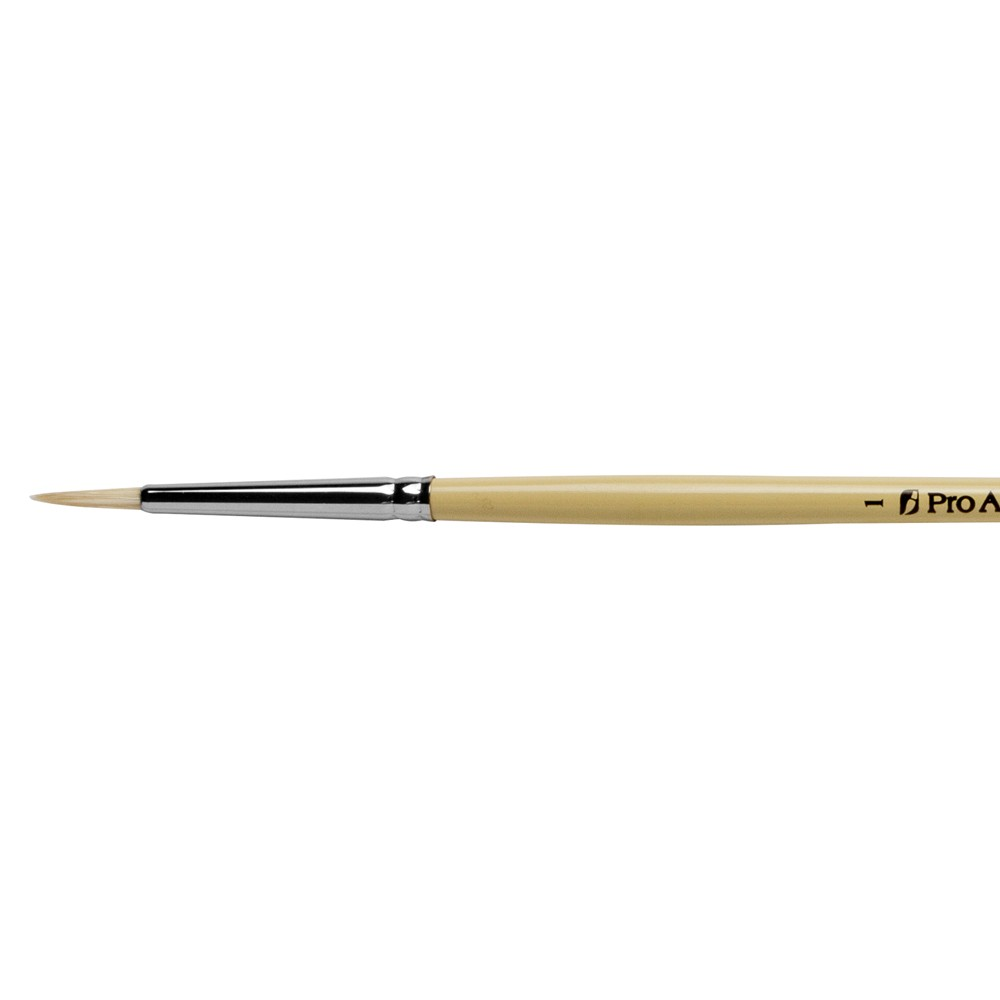 Pro Arte : Series B Hog : Bristle Brush : Round : Size 1