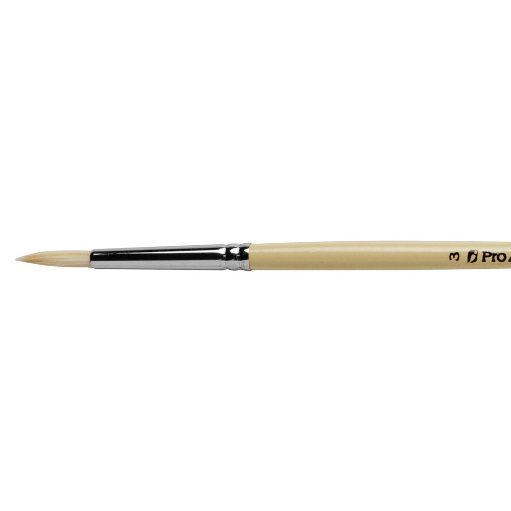 Pro Arte : Series B Hog : Bristle Brush : Round : Size 3