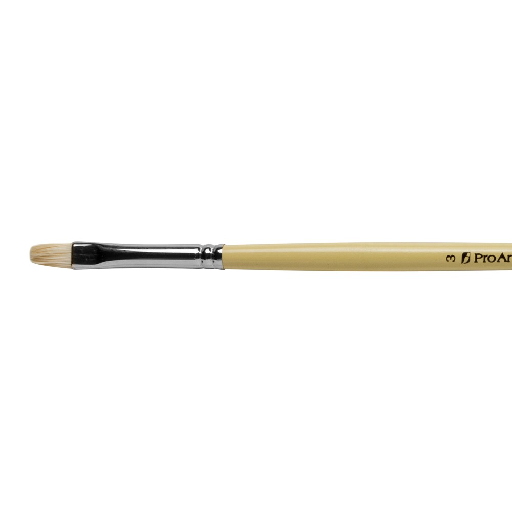 Pro Arte : Series B Hog : Bristle Brush : Short Flat : Size 3