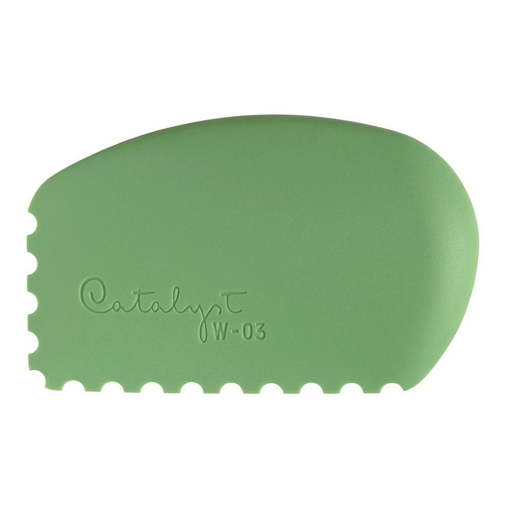 Princeton : Catalyst Wedge : Silicon Painting Tool : No. 3 Green