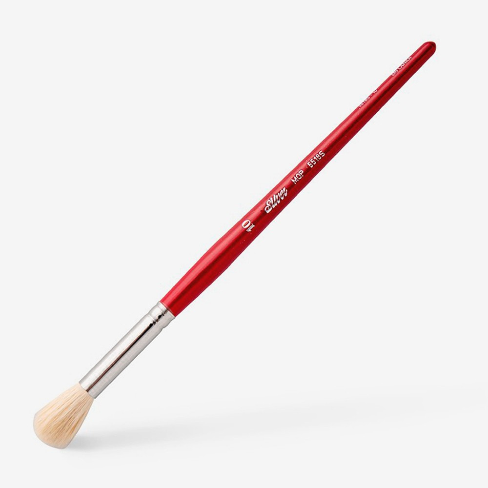 Silver Brush : White Round Mop : Series 5518S : Size 10