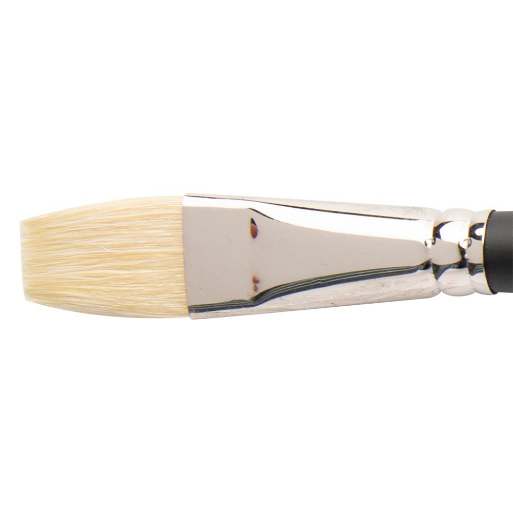 Winsor & Newton : Azanta Black : Long Handle Brush : Short Flat : No 10