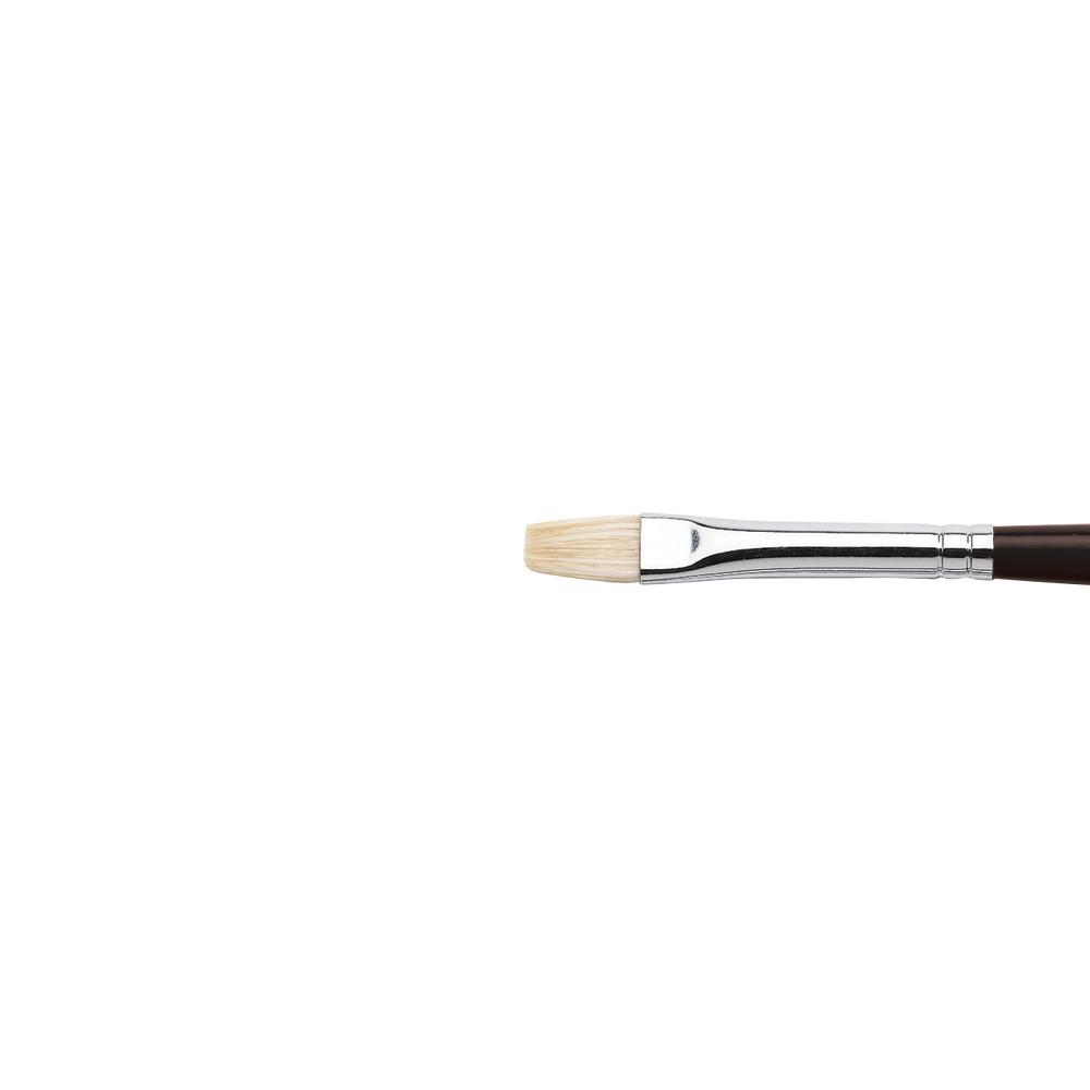 Winsor & Newton : Azanta Black : Long Handle Brush : Short Flat : No 2