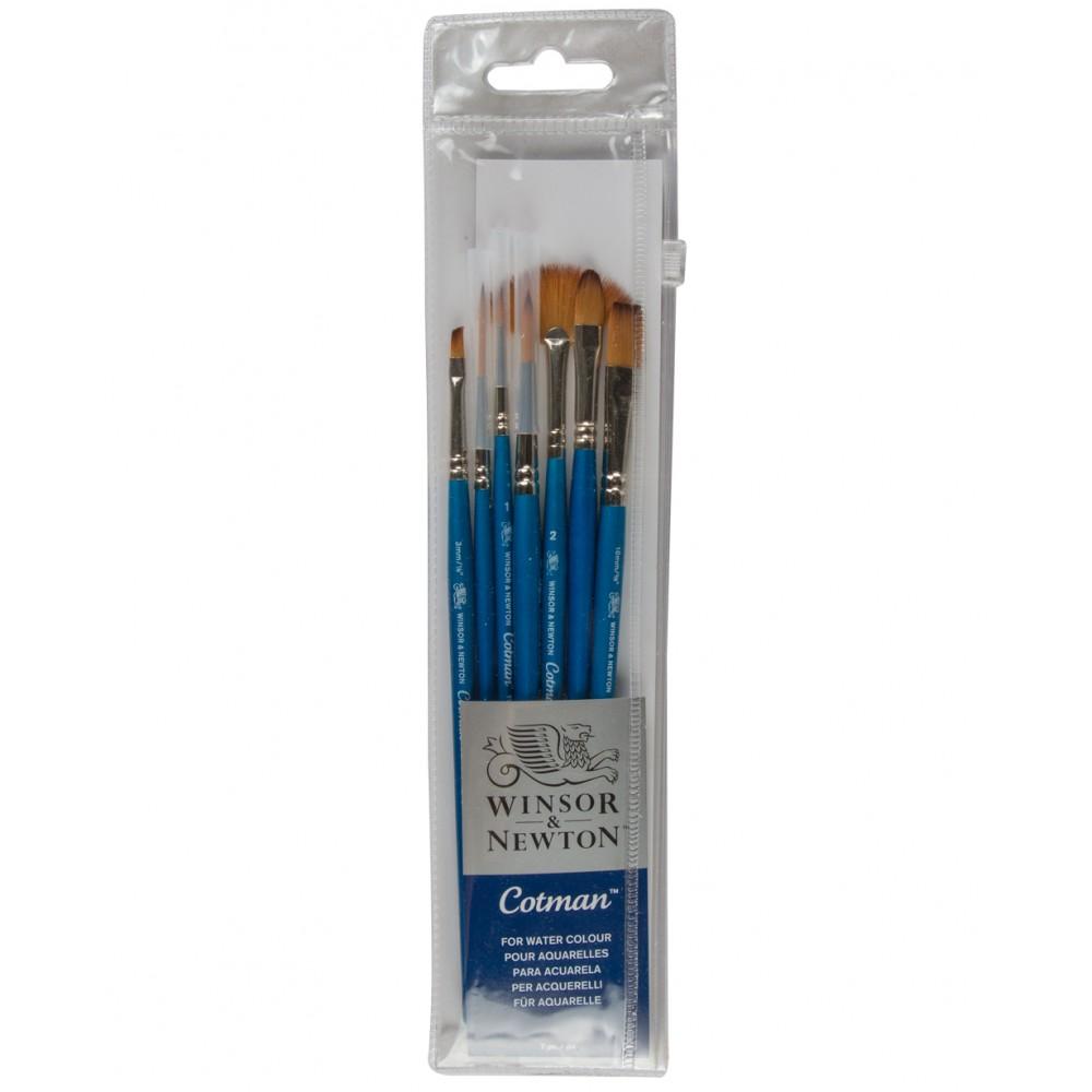 Winsor & Newton : Cotman Watercolour Brush : Set of 7
