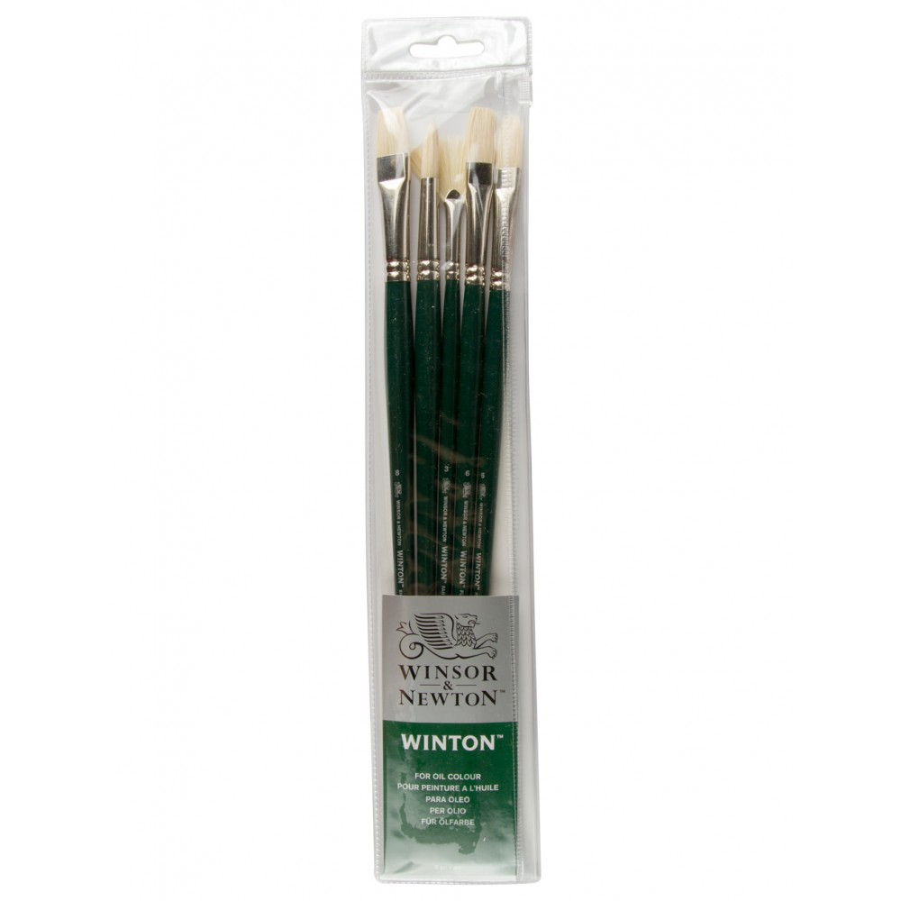 Winsor & Newton : Winton Oil Brush : Set of 5