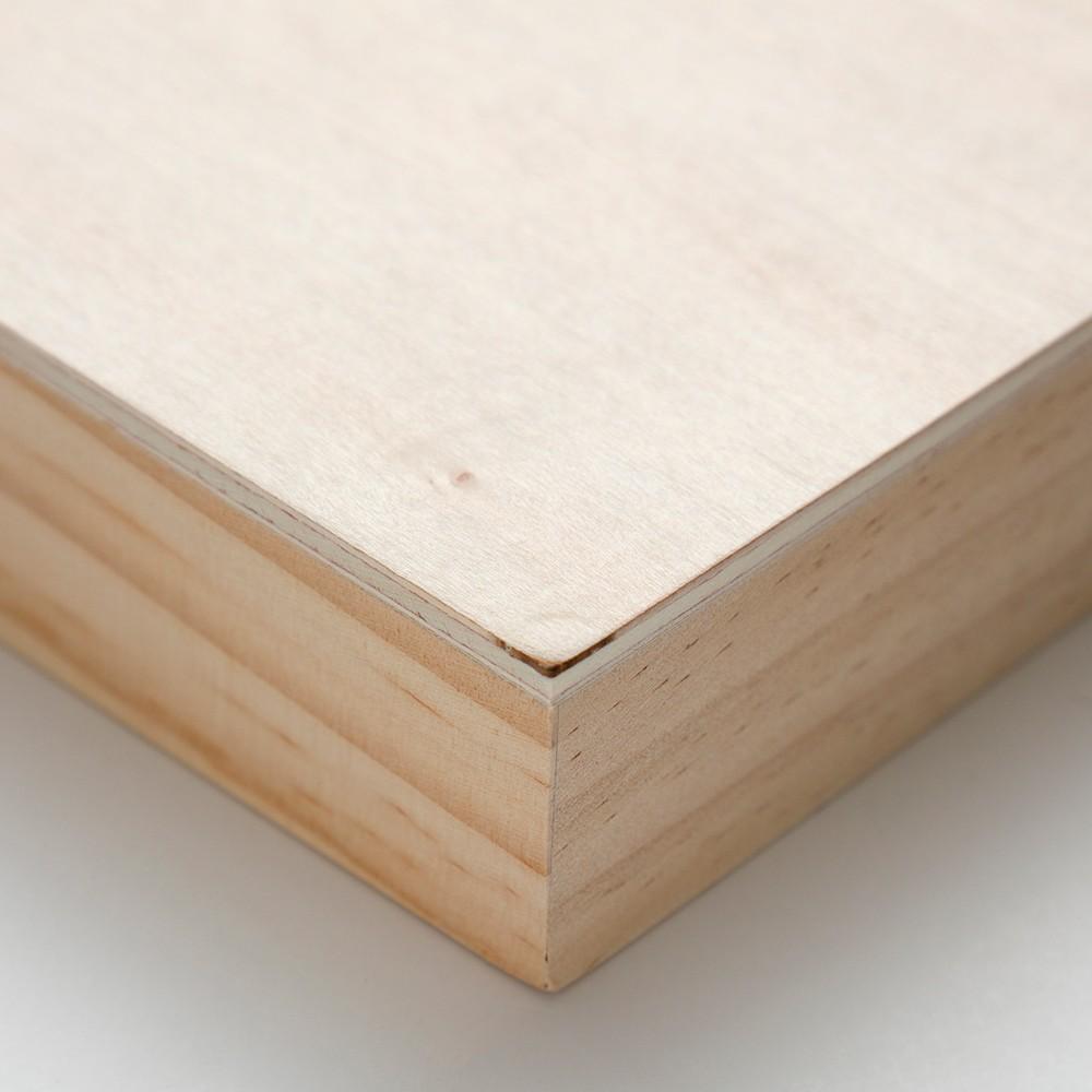 Ampersand : Artist Panel : Unprimed Basswood Panel : Cradled 38mm : 8x10in