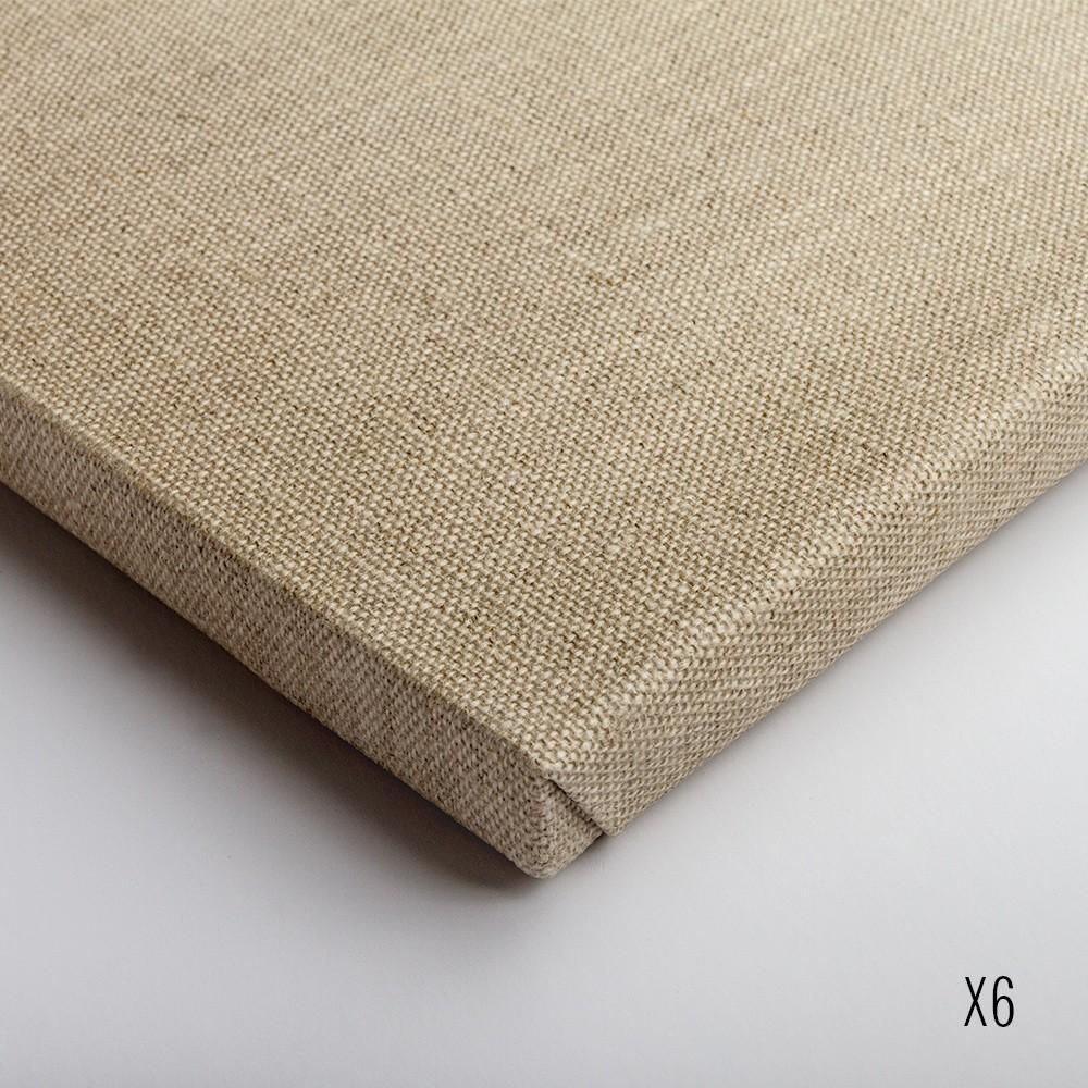 Belle Arti : Linen 36/648 : Uni. Clear Primed Medium Grain : 18x24cm : Box of 6