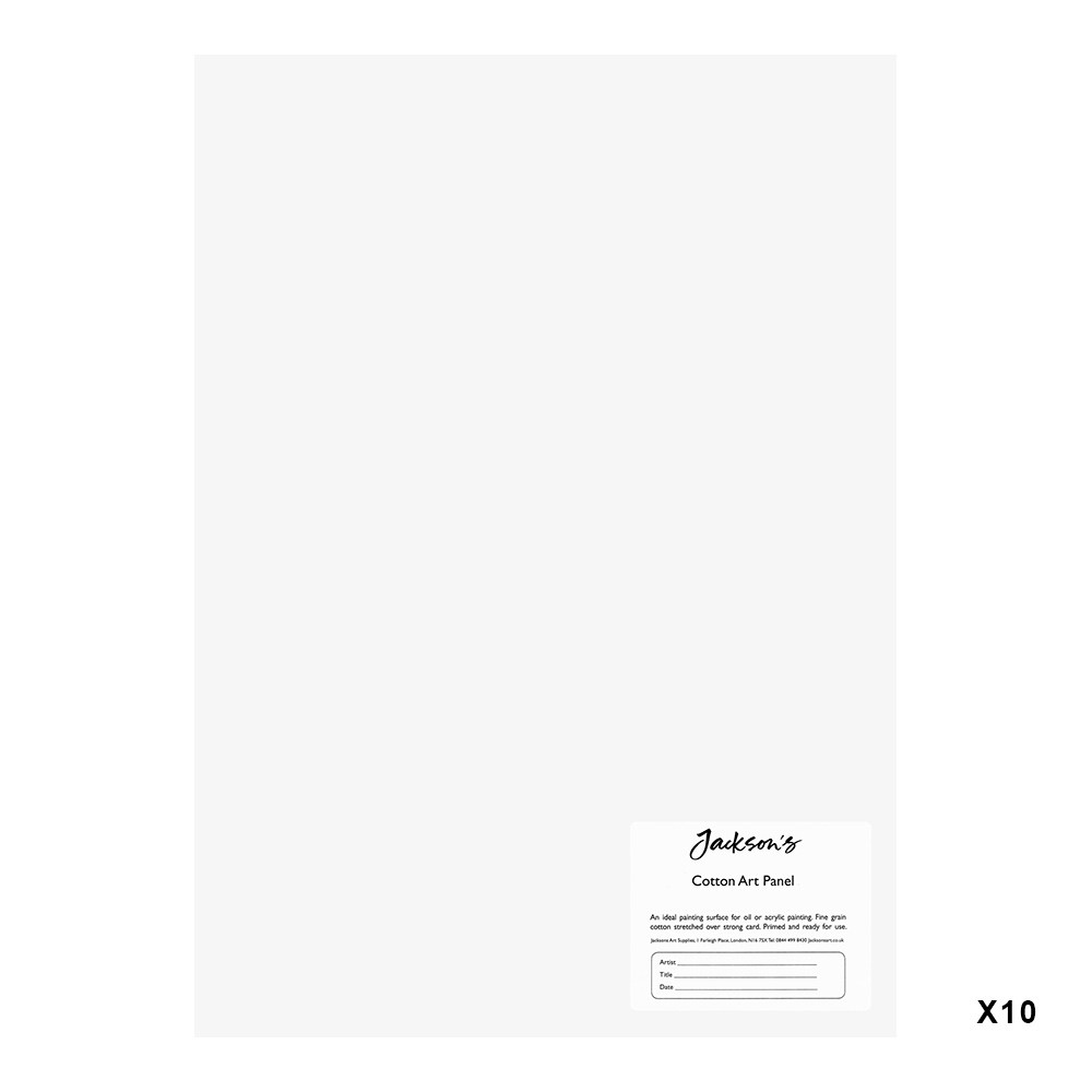 Jackson's : 3mm Cotton Art Board : Canvas Panel : 10x14in : 10 Pack