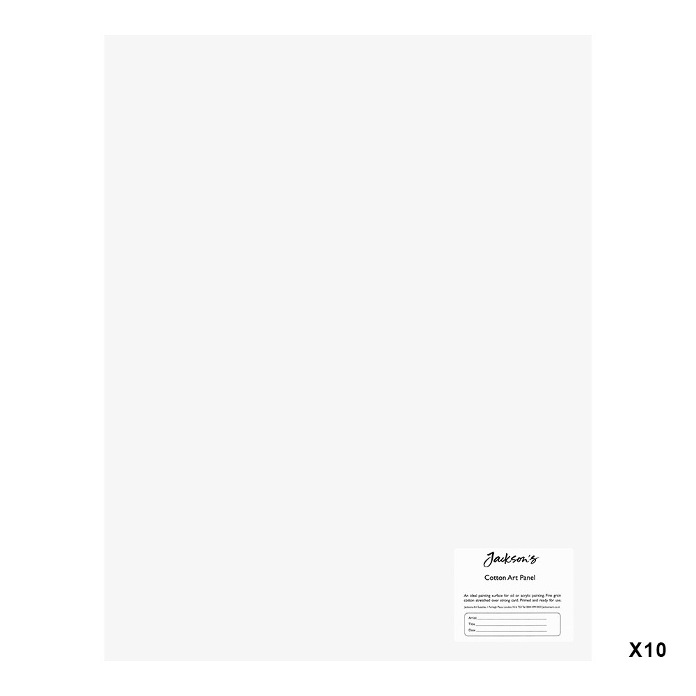 Jackson's : Academy 3mm Cotton Art Board : Canvas Panel : 14x18in : 10 Pack