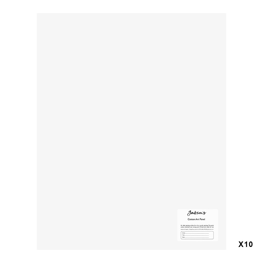 Jackson's : Academy 3mm Cotton Art Board : Canvas Panel : 16x20in : 10 Pack
