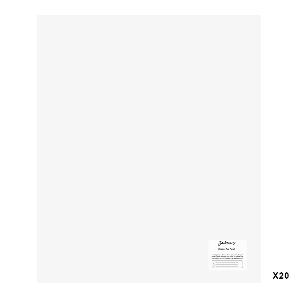 Jackson's : 3mm Cotton Art Board : Canvas Panel : 20x24in : 20 Pack
