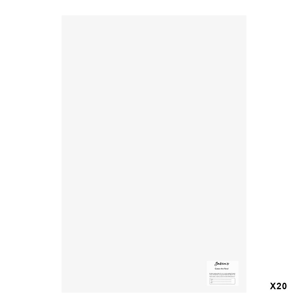 Jackson's : Academy 3mm Cotton Art Board : Canvas Panel : 20x30in : 20 Pack