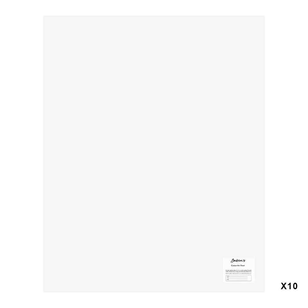 Jackson's : Academy 3mm Cotton Art Board : Canvas Panel : 24x30in : 10 Pack