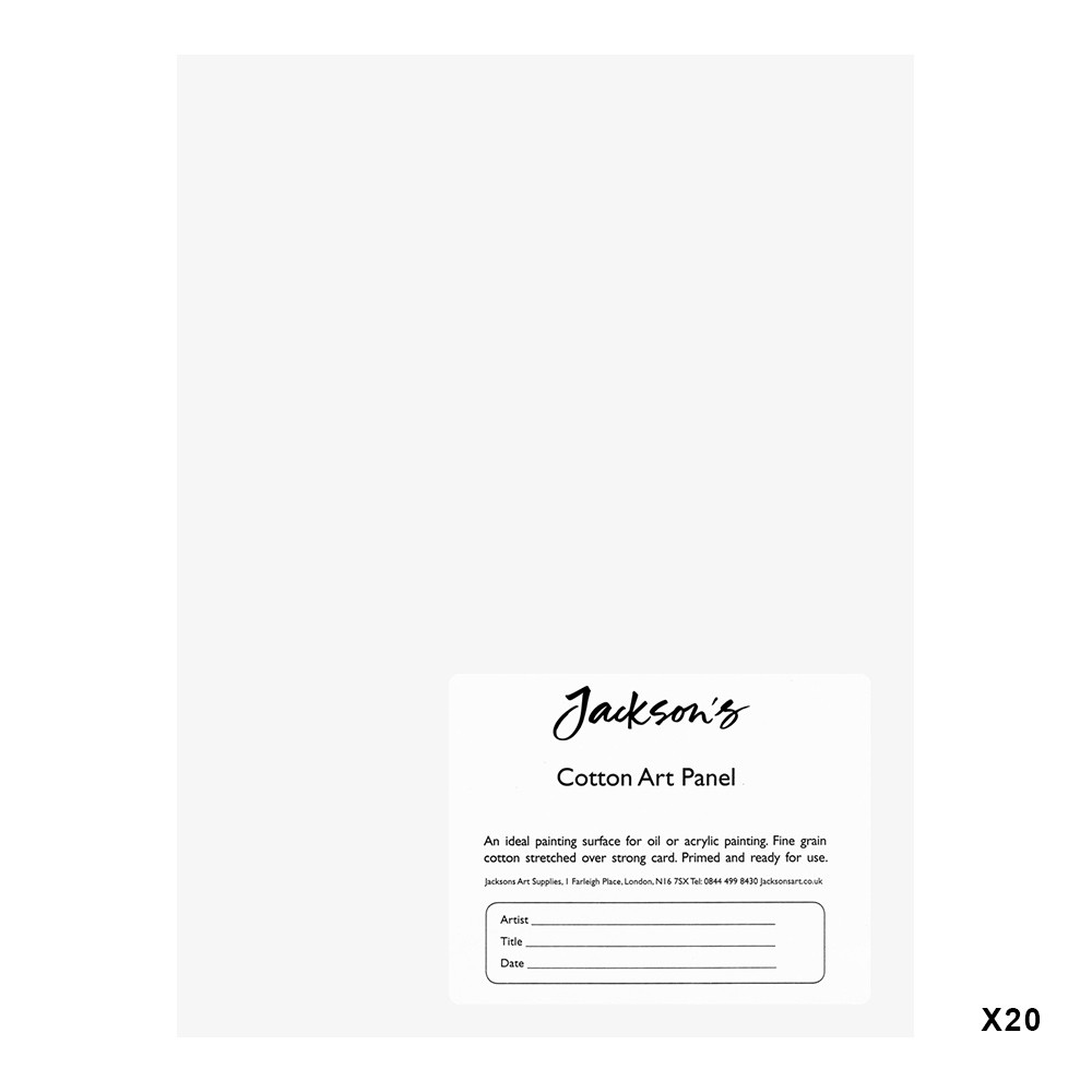 Jackson's : Academy 3mm Cotton Art Board : Canvas Panel : 6x8in : 20 Pack