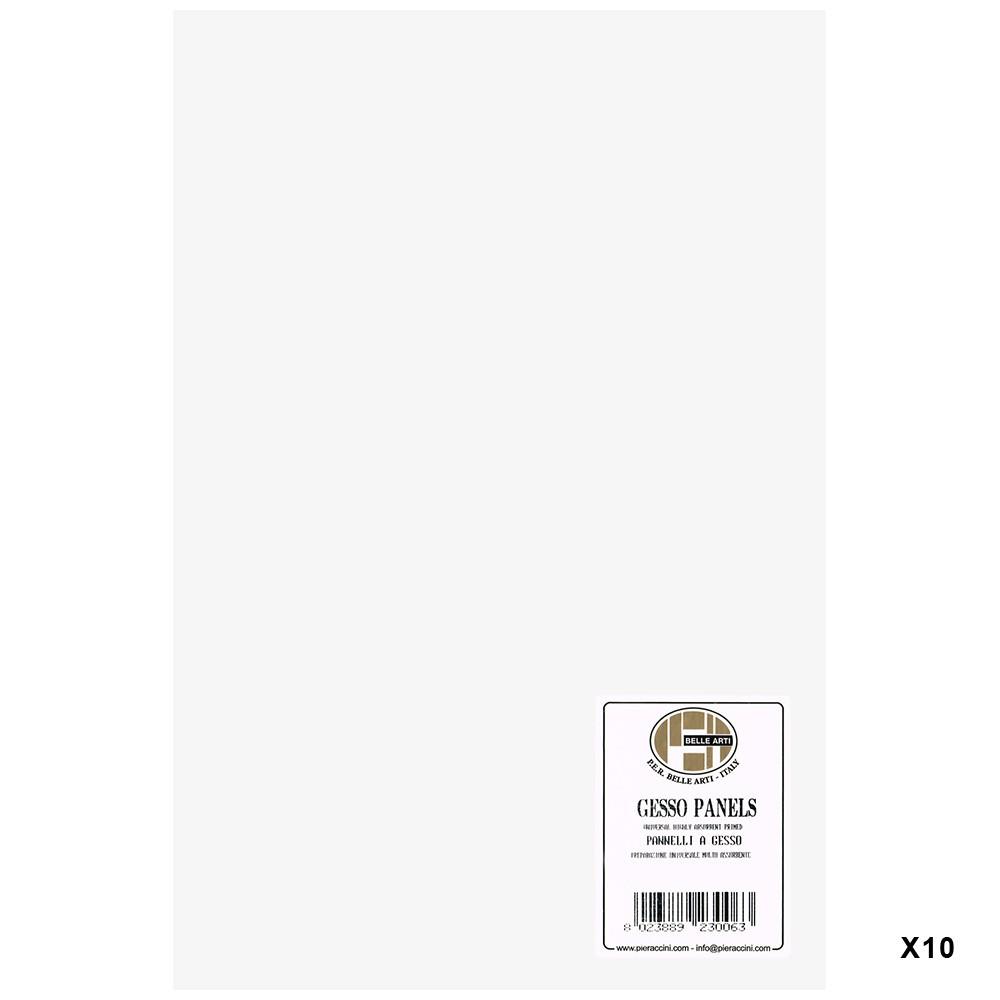 Belle Arti : Gesso Panel : Multi-Ply Poplar Wood Base : 20x30cm : Box of 10