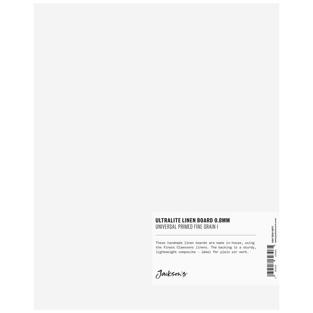 Jackson's : 0.8mm : Ultralite Linen Board : 8x10in : Claessens 109 Fine Linen Surface : Universal Primed : 363gsm