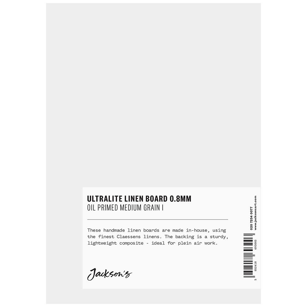 Jackson's : 0.8mm : Ultralite Linen Board : 5x7in : Claessens 66 Medium Surface : Oil Primed : 460gsm