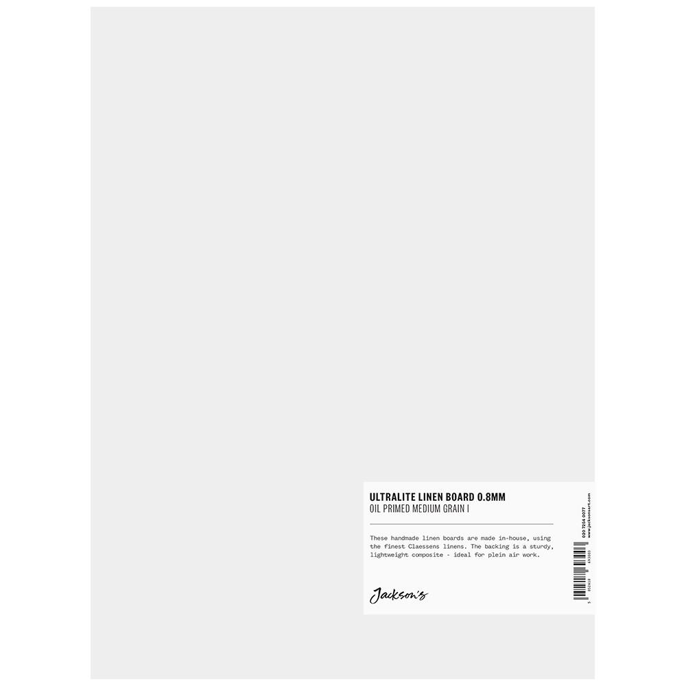Jackson's : 0.8mm : Ultralite Linen Board : 9x12in : Claessens 66 Medium Surface : Oil Primed : 460gsm